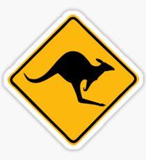 Be Careful Kangaroos! Sticker