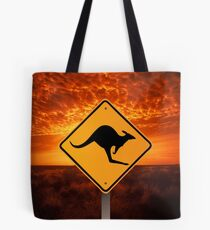 Be Careful Kangaroos! Tote Bag