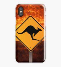 Be Careful Kangaroos! iPhone Case/Skin