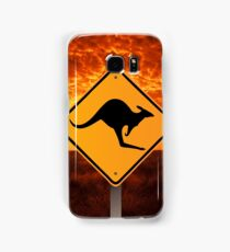 Be Careful Kangaroos! Samsung Galaxy Case/Skin
