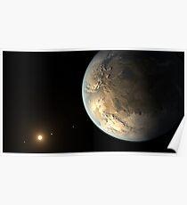 Extrasolar Planet Kepler 186f Poster