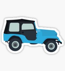 Stiles Stilinski Jeep CJ5 1976, Roscoe / Teen Wolf Sticker
