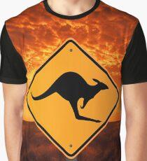 Be Careful Kangaroos! Graphic T-Shirt