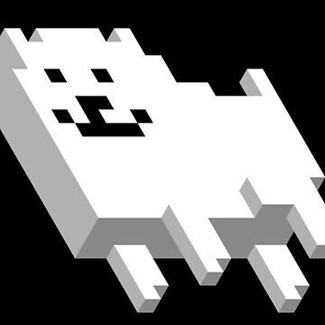 Cute Pixel Dog by Bonkatomic