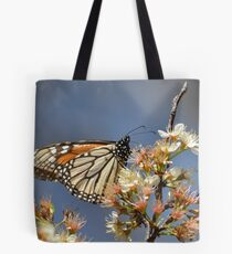 Monarch on a mexican plum tree Tote Bag
