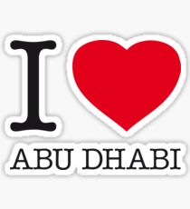 I ♥ ABU DHABI Sticker