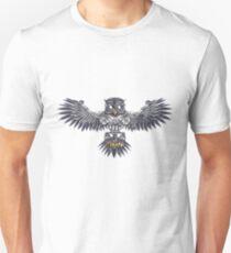 Steampunk silver flying owl Unisex T-Shirt