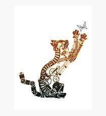 Steampunk Bronze Kitten Photographic Print
