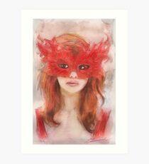 Le Masque Rouge Art Print