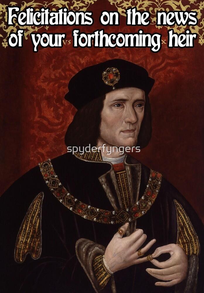 Richard III Baby Shower by spyderfyngers