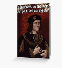 Richard III Baby Shower Greeting Card