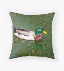 Lucky Duck Throw Pillow