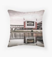 Baylor Bears McLane Stadium Sketch Throw Pillow