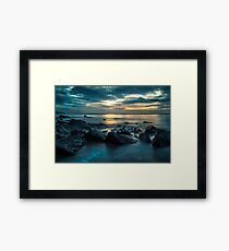 Saundersfoot at dawn Framed Print
