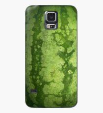 Abstrakte grüne Rinde einer Wassermelone Hülle & Klebefolie für Samsung Galaxy