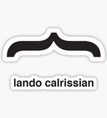 Helvetica Lando Calrissian Sticker