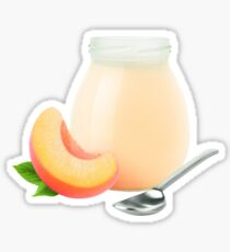 Peach yogurt Sticker