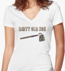 Dirty Old Hoe Women's Fitted V-Neck T-Shirt
