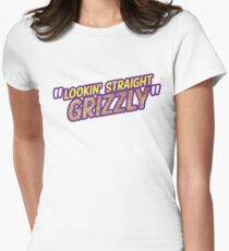 Lookin' Straight Grizzly Womens Fitted T-Shirt