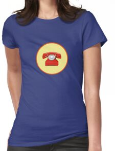 Phone Red Womens Fitted T-Shirt