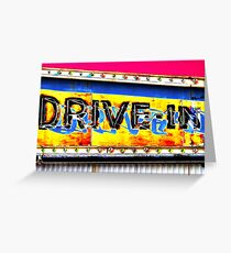 Drive-In Movie Sign Greeting Card