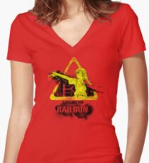 1,000,000,000 Volt Railgun Women's Fitted V-Neck T-Shirt
