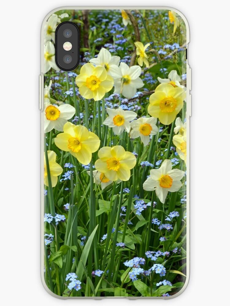 Spring daffodil garden by perlphoto