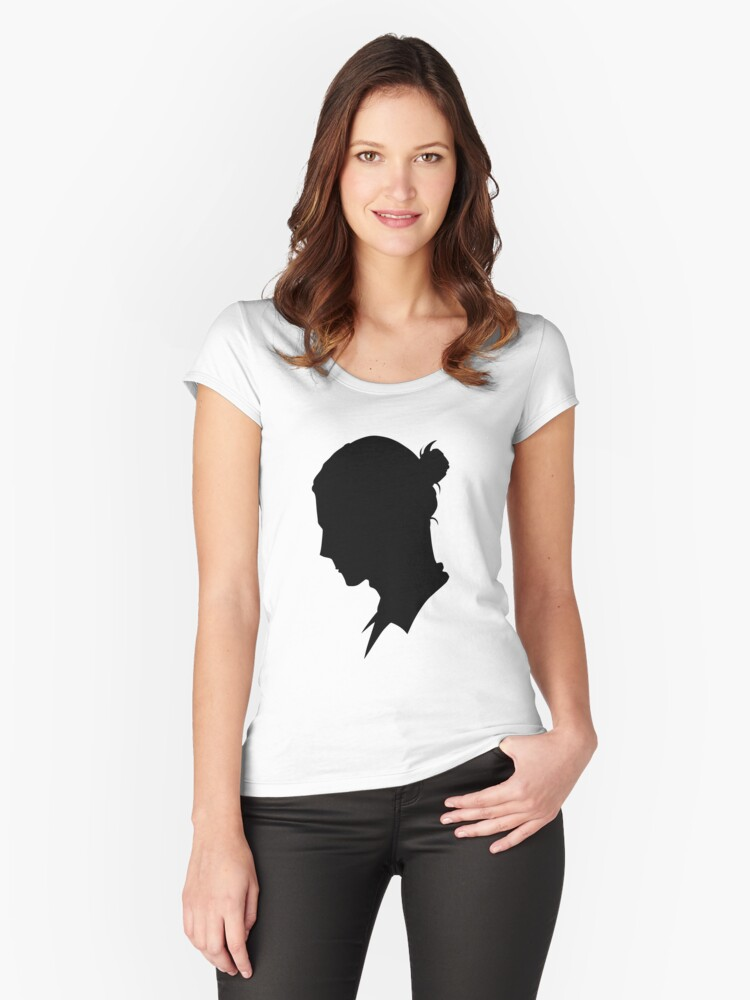 Azumane Asahi - Silhouette Women's Fitted Scoop T-Shirt Front