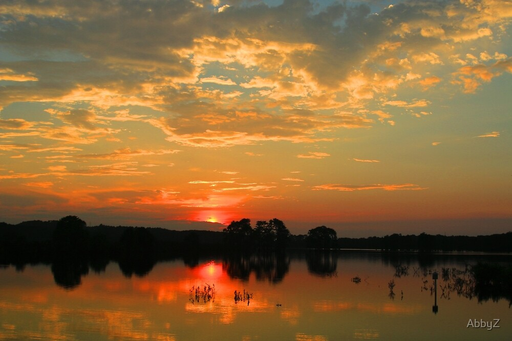 Sunset over Piney Z Lake by AbbyZ
