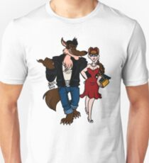 Rockabilly Red and Wolf T-Shirt