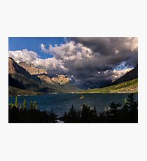 Storm Above St. Mary Lake Glacier National Park Photographic Print