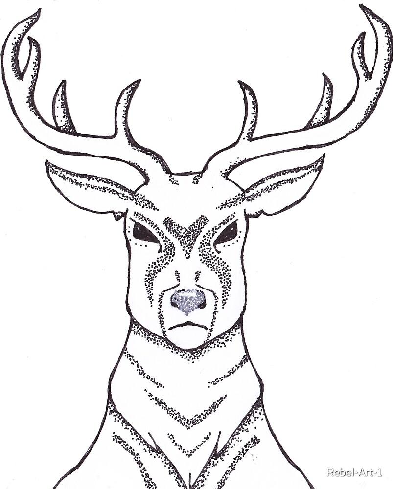 Dotwork Deer by Rebel-Art-1