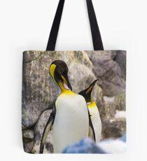 Preening King penguin (Aptenodytes patagonicus) Tote Bag