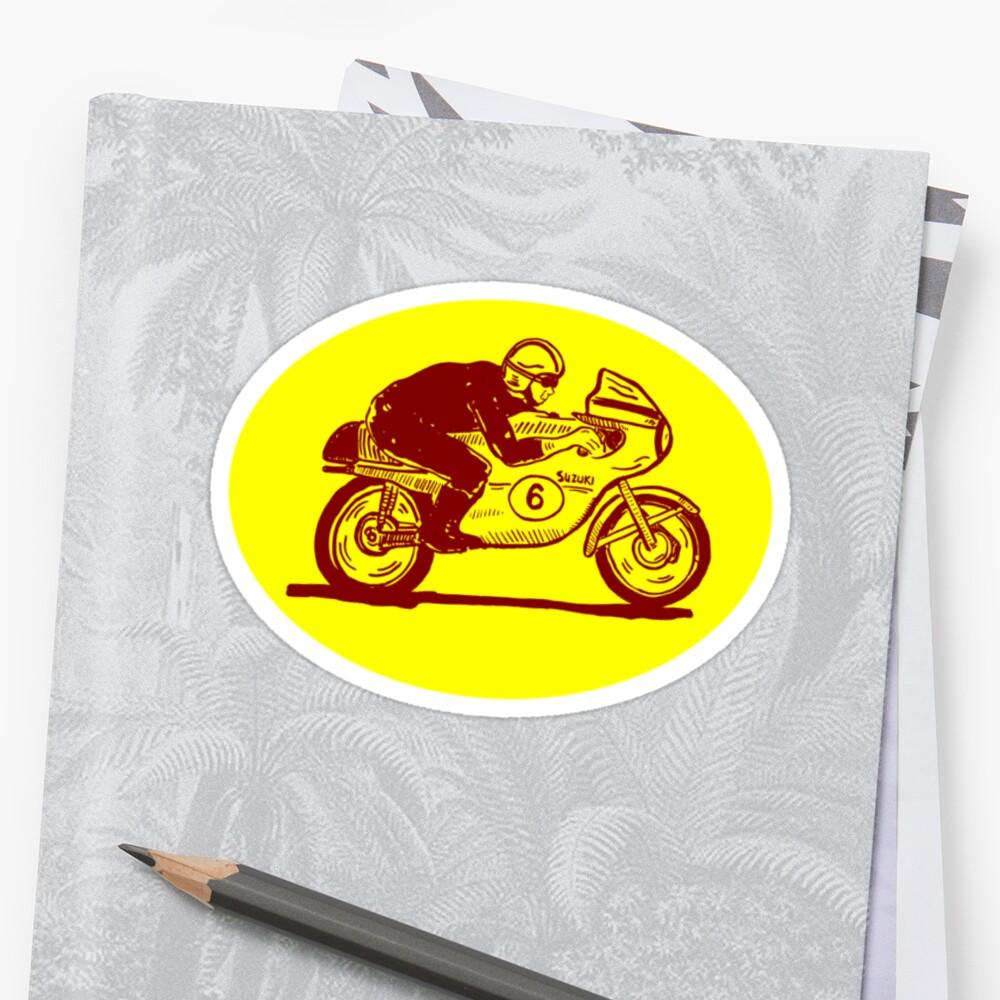 Suzuki Motorcycle Rider as Logo by Daniel Gallegos