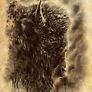 Morning Bison by cs3ink