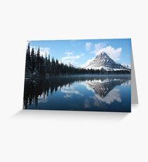 Sinopah Mountain after a Snowstorm Greeting Card