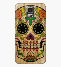 Wood Sugar Skull Case/Skin for Samsung Galaxy