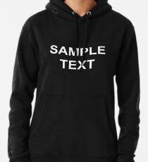 Sudadera con capucha Texto de ejemplo