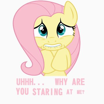 Staring at Fluttershy by SomeBronyArtist