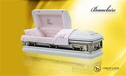 The Beauclaire | A Delicate Steel Casket with a Floral Motif by greatlakescaske