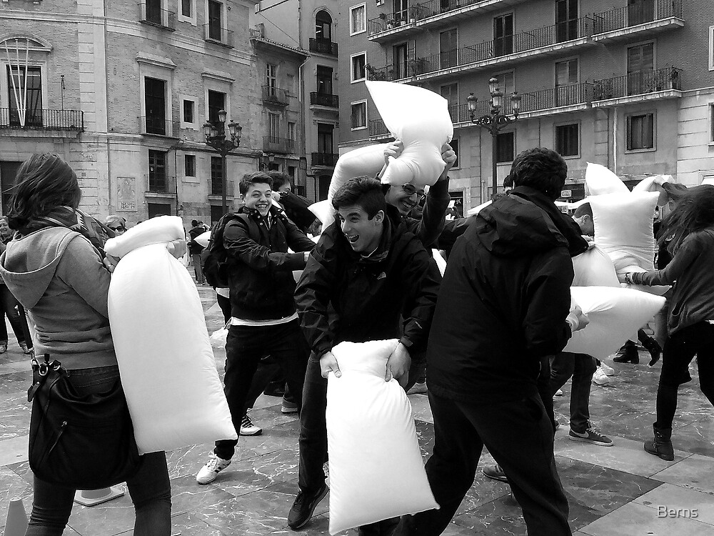 The Pillow Fight by Berns