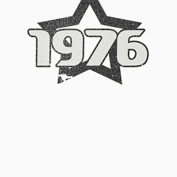 Vintage Look 1970's Funky Year Graphic 1976 by VintageSpirit