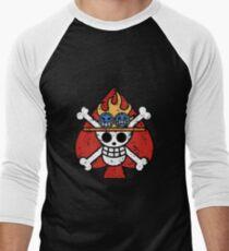 Spade Pirates Jolly Roger Men's Baseball ¾ T-Shirt