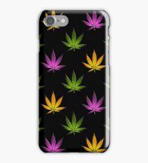 Marijuana Leaves Pattern Black Large iPhone Case/Skin