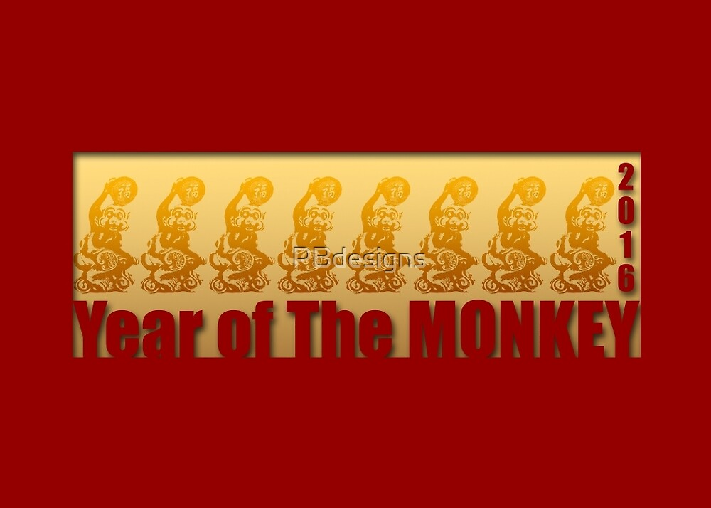 Lucky Monkeys for Chinese new Year 2016 by PBdesigns