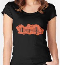 Golden Gate Bridge San Francisco Women's Fitted Scoop T-Shirt
