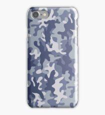 Blue camo phone case iPhone Case/Skin