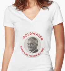 Barry Goldwater Women's Fitted V-Neck T-Shirt