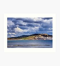 Storm Clouds Over Charmouth Art Print