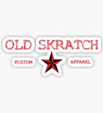 Old Skratch Kustom Apparel Sticker